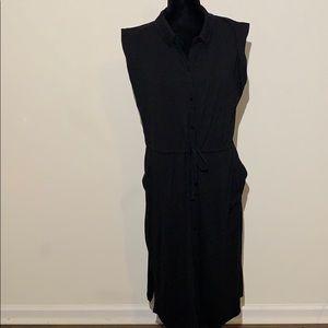 Eileen Fisher cargo drawstring waist sleeveless